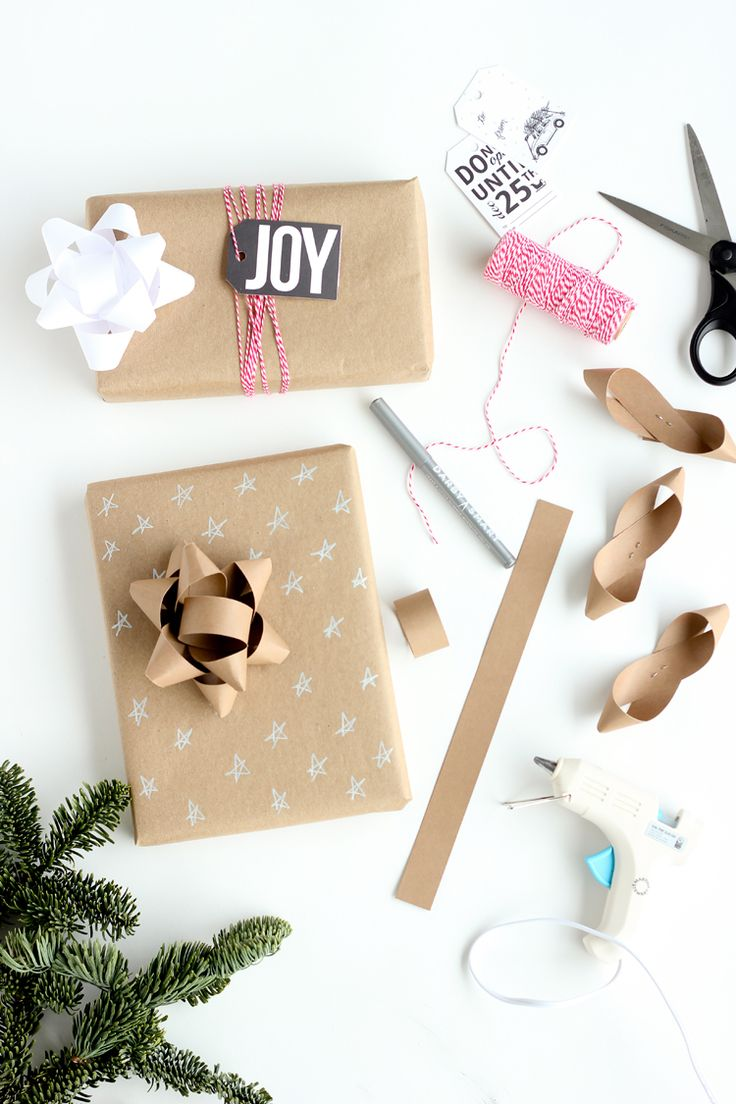 Three easy ways to dress up kraft wrapping paper with copy paper! // Delia Creat...