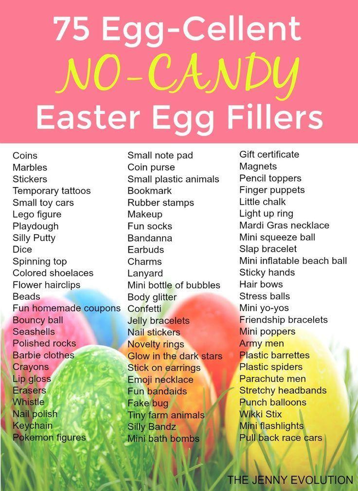 75 Egg-Cellent Non Candy Easter Egg Fillers - Perfect for filling Easter baskets...