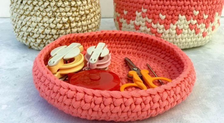 Basket Gifts A Modern Free Crochet Pattern Use Red Heart Strata