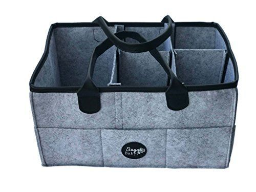 Baby Diaper Storage basket Organizer. Nursery Storage bin for boys girls diapers...