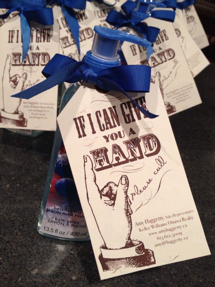 Hand soap to add to gift baskets given to VIP clients by the cleaning company I ...