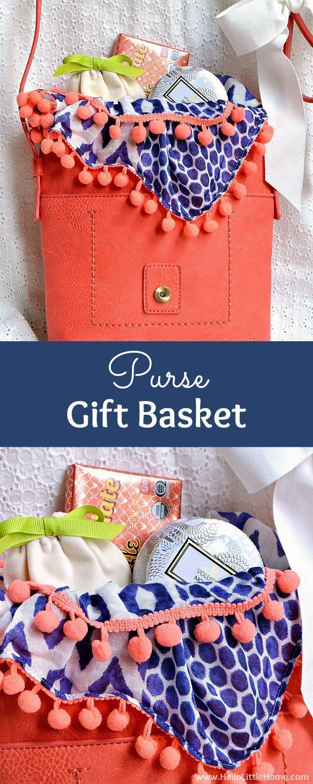 How to make a DIY Purse Gift Basket ... the perfect present for any woman! This ...