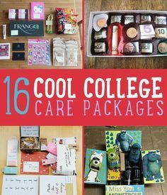 If your kid is going away for college, why not make a care package to make them ...