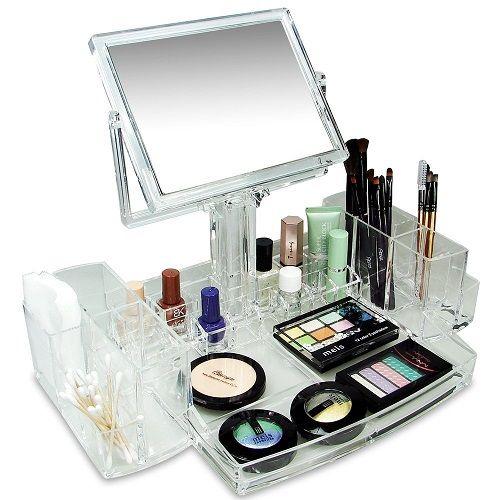 Clear Vanity Makeup Organizer Storage. High school graduation gift ideas. Gradua...