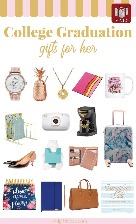 College Graduation Gifts for Girls. Suitable for daughter, sister, bff, friends.