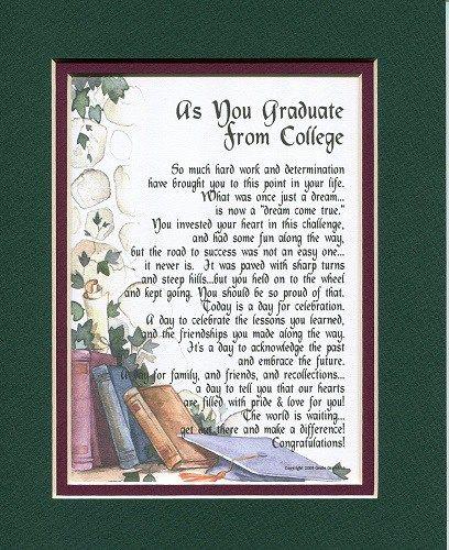 College Graduation Poem (Graduation gifts for college grads)