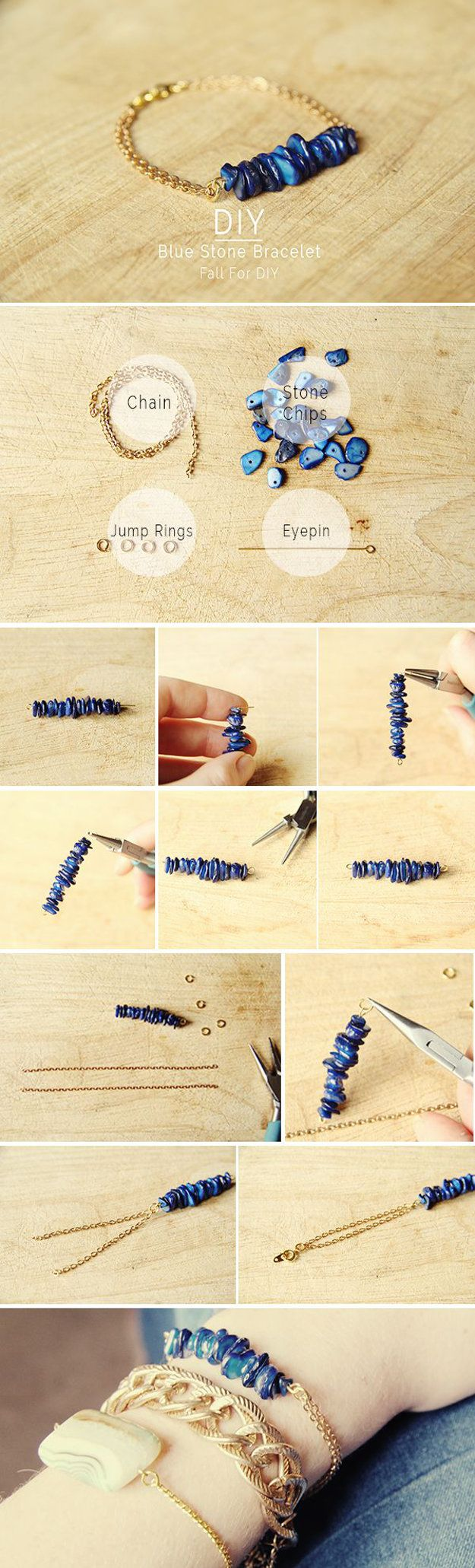 DIY Blue Stone Bracelet | The Perfect Gift to Make Your BFF for Graduation, Base...
