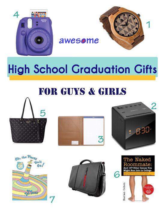 Graduation Gift Ideas for High School. For guys, for girls.