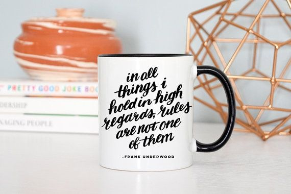 House of Cards Mug | 12 College Graduation Gifts for Political Junkies | www.her...
