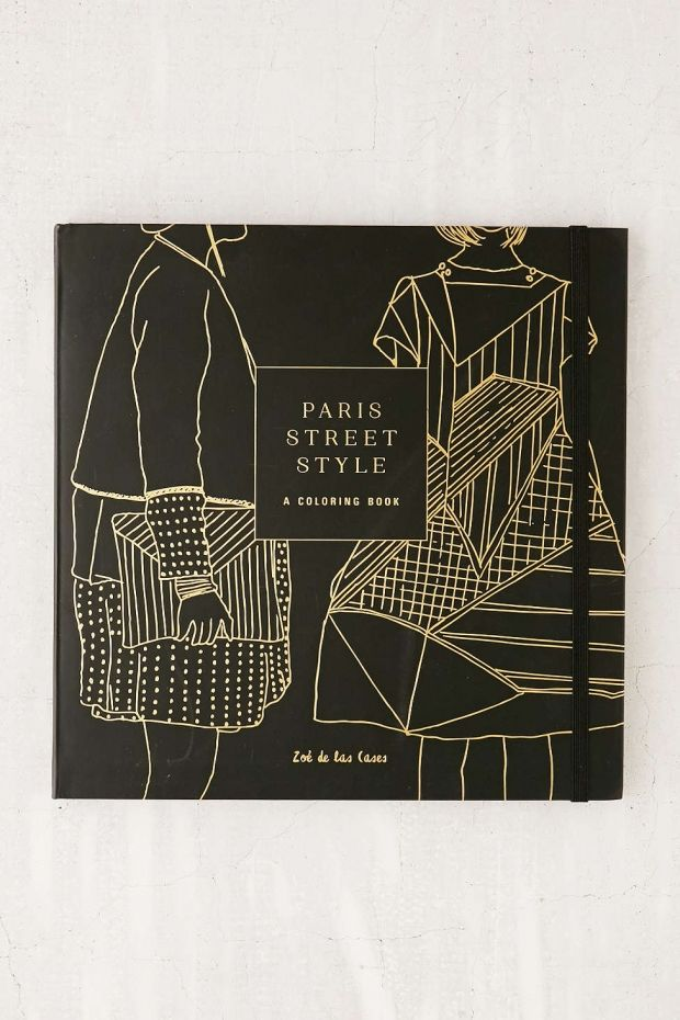 Paris Street Style Coloring Book | 12 Gifts For Artistic College Grads | www.her...