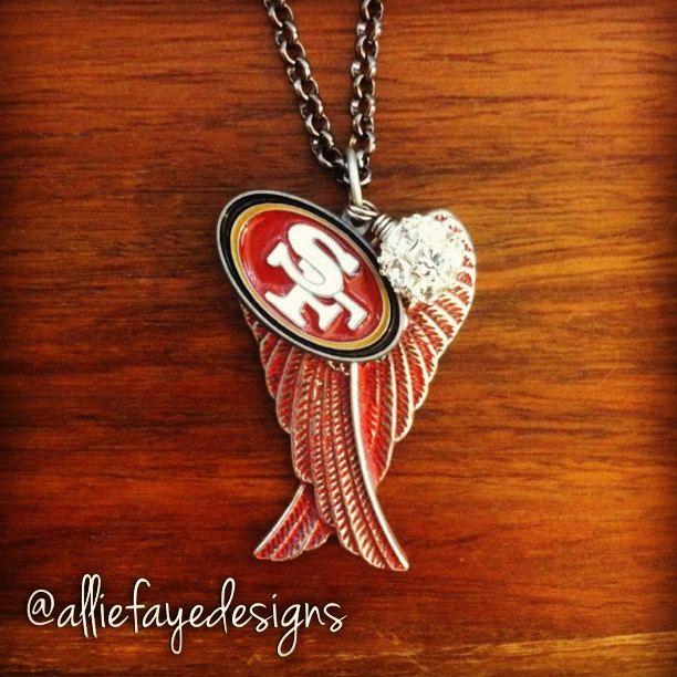 Red patina Angel Wings and San Francisco 49ers by alliefayedesigns, $25.00