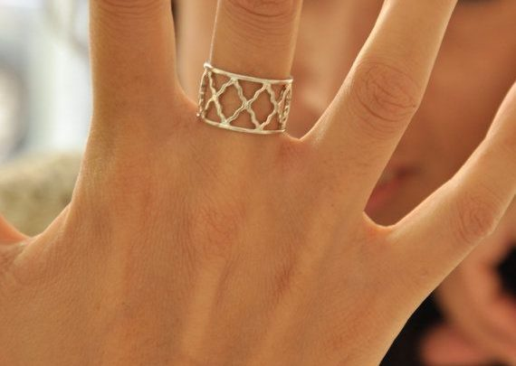 Birthday Gift Ideas Silver Israeli Bars Ring Delicate Woman By LiatWaldmanJewelry 8000