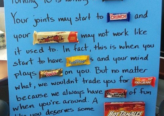 Birthday Gift Ideas Candy Bar Poster