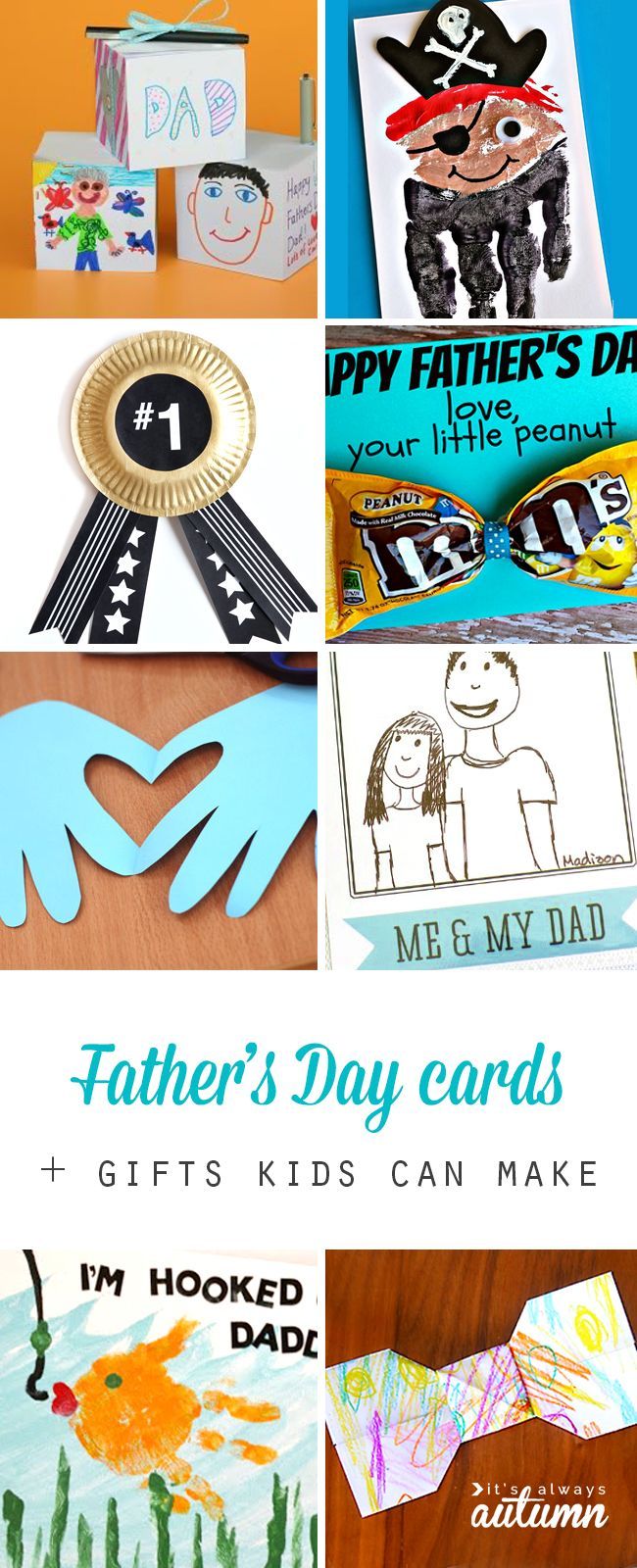 20 Father's Day cards and gifts that kids can make for Dad. Fun, easy, and c...
