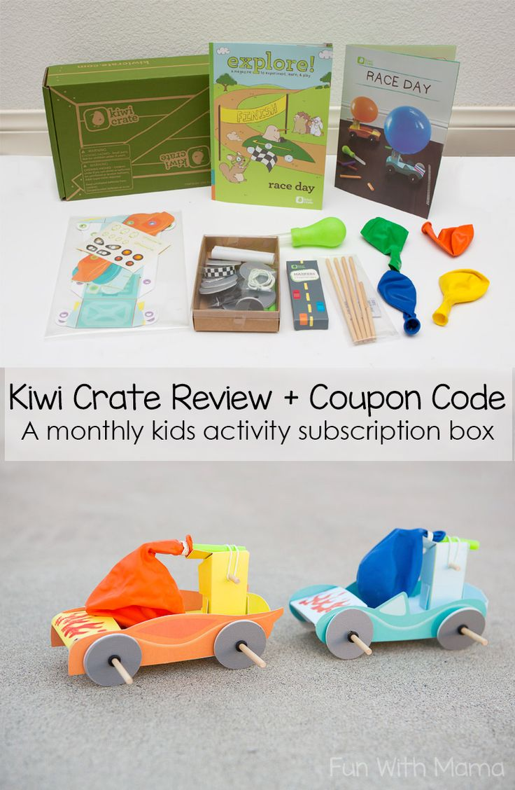 Check out this Kiwi Crate Review and coupon code post. Looks at the crafts, kids...