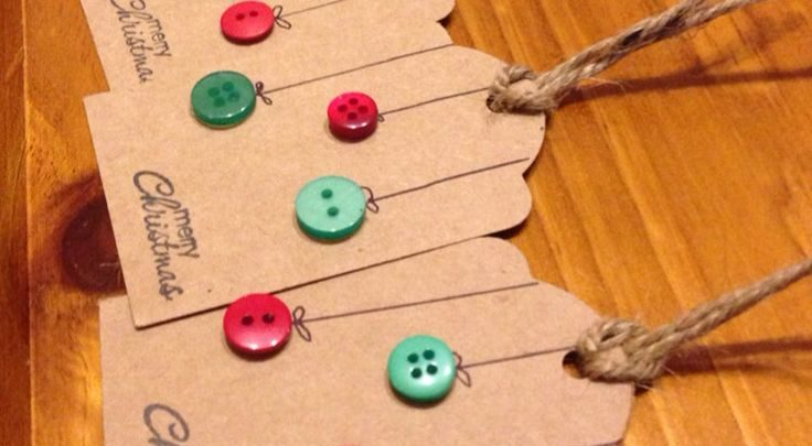 Christmas Gift Tags Ideas.Gift Wrapping Ideas Christmas Gift Tags Button Baubles