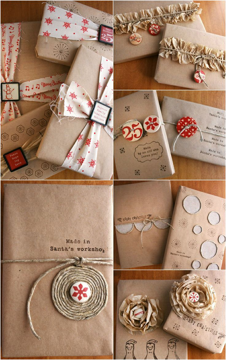 Christmas Inspiration ● 8 Techniques for  Gift Wrapping with Kraft