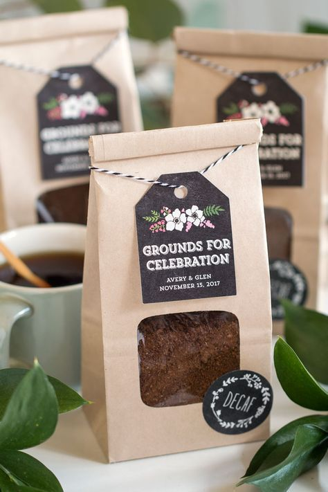 Grounds for Celebration: Coffee Wedding Favors || Use coffee grounds as wedding ...