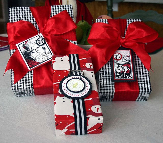 Red, Black, and White Wrapping