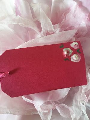 Super easy Swoosh roses for gift cards and crafting, DIY painted roses easy, eas...