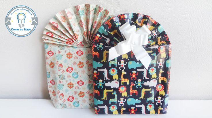 DIY Fan Gift Wrapping -- Bolsa de regalo con abanico