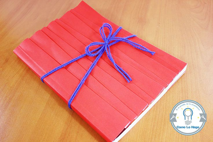 How to wrap a book using a different way