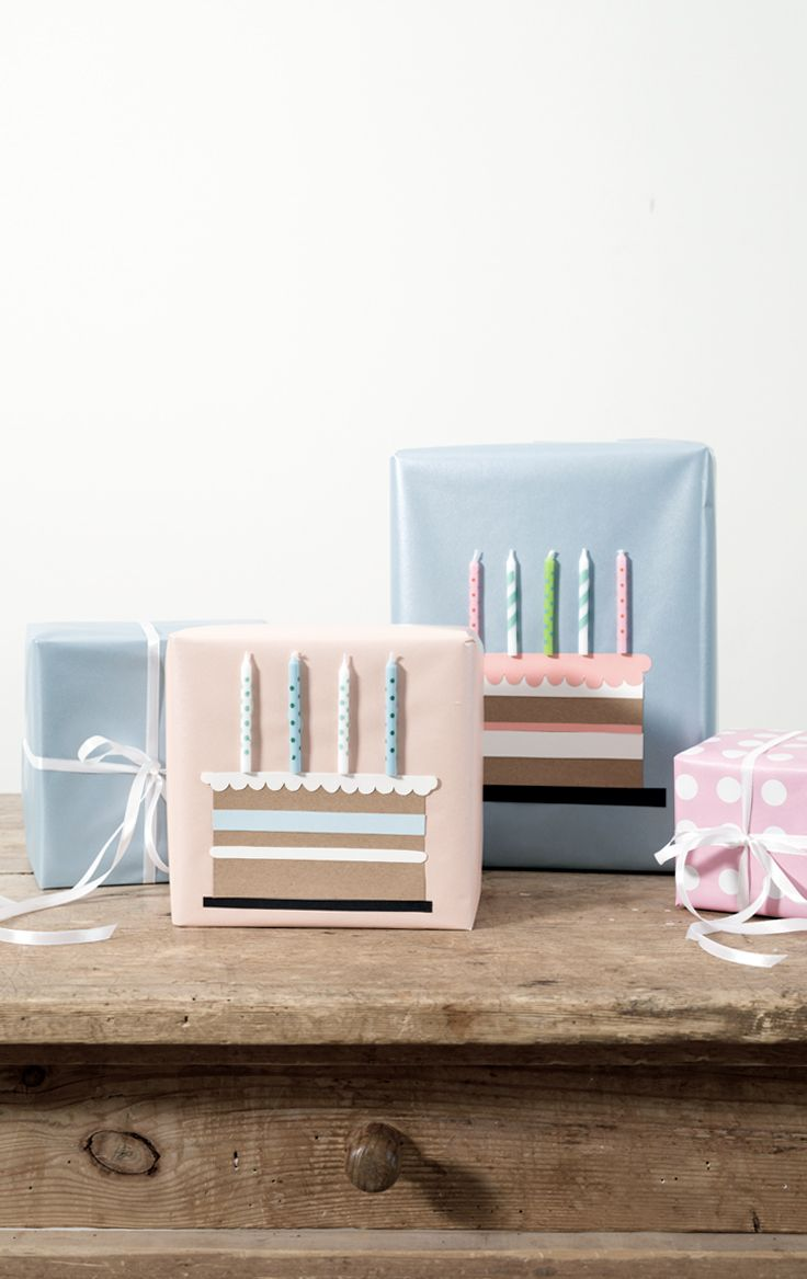 Watch the video tutorial and discover a cute and new way of wrapping birthday pr...