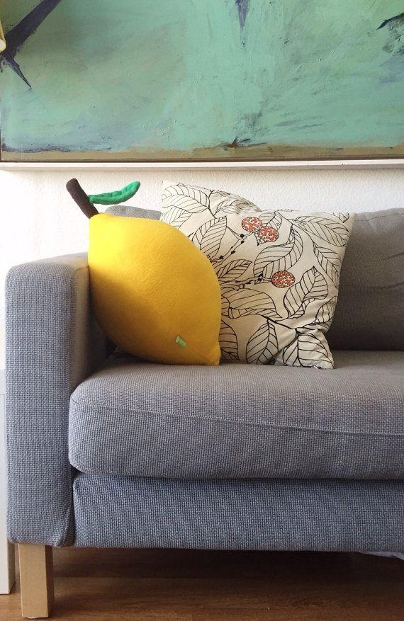 Géant oreiller citron - grand coussin de fruits pour salons Cool - cadeaux pour...