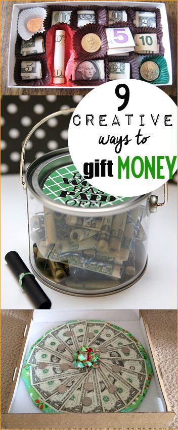 9 Creative Ways to Gift Money. Gift money for all occasions. Wedding gifts, brid...