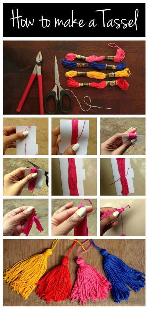 How to Make a Tassel Great way to personalize a graduation gift or any other gif...