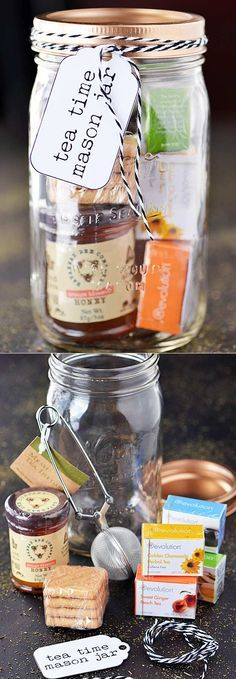 Homemade DIY Gifts in A Jar | Best Mason Jar Cookie Mixes and Recipes, Alcohol M...
