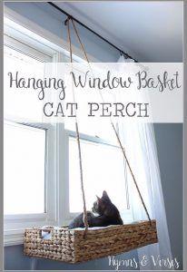 Creative Crafts Made With Baskets - DIY Hanging Basket Cat Perch - DIY Storage a...