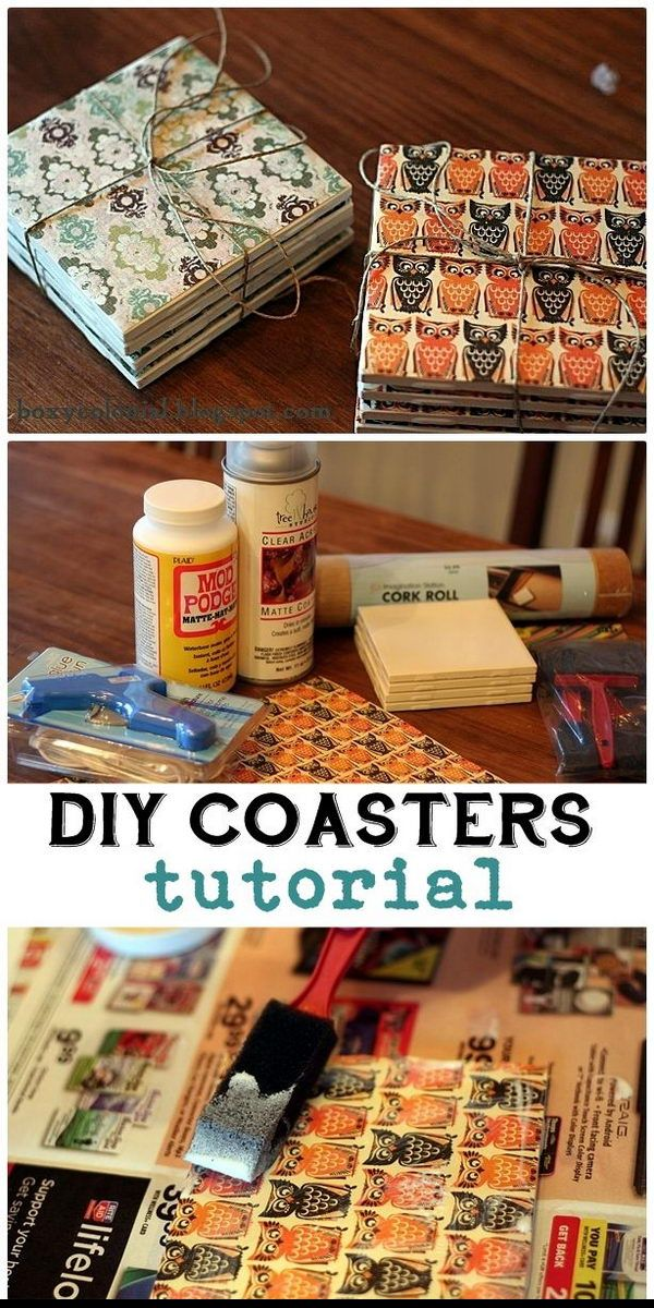 DIY Tile Coaster Gifts.