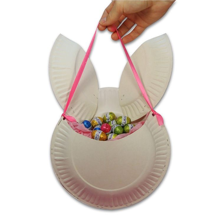 Homemade Easter Basket Ideas | To make this bag, you will need 3 x paper plates,...