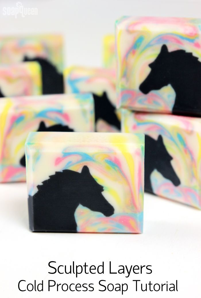 Basket Gifts : Horse Sculpted Layers Cold Process Soap
