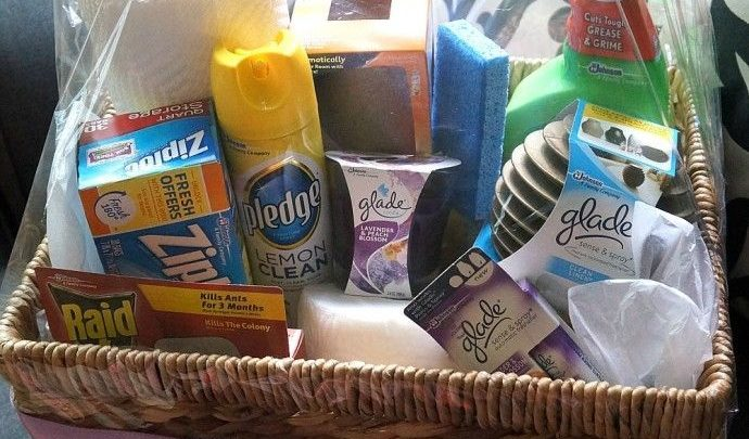 Basket Gifts Housewarming Gift Ideas Diy Home Essentials