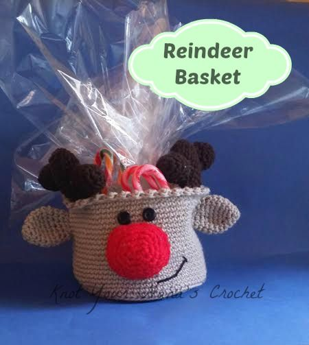 Knot Your Nana's Crochet: Reindeer Basket (Crochet for Christmas: 29 Pattern...