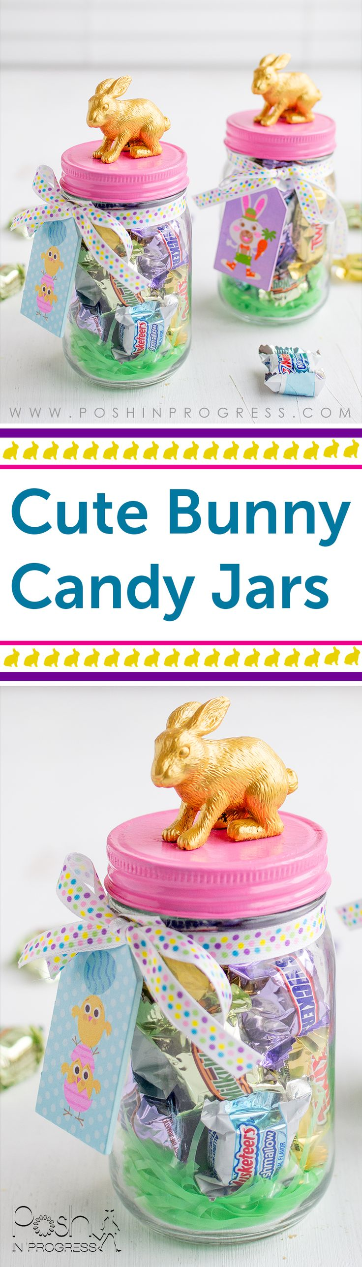 Need adorable but quick DIY Easter decor? You should make this simple bunny cand...