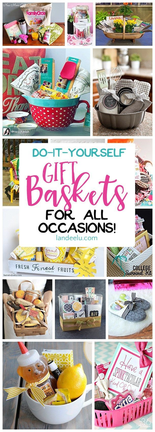 Put together a gift basket for any occasion and make someone's day! Easy do ...
