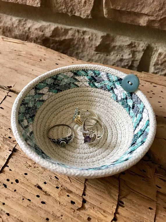 Rope Basket, Small Cotton Rope Bowl, Teacher Gift, Handmade Basket, Gift For Mom...