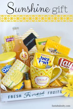 Sunshine Gift Basket Or Box Ideas Love This For A