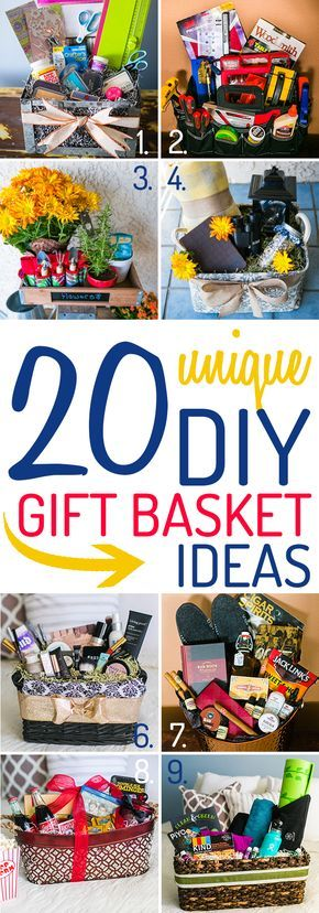 These ideas for a DIY gift basket are unique, and packed with tips from the expe...