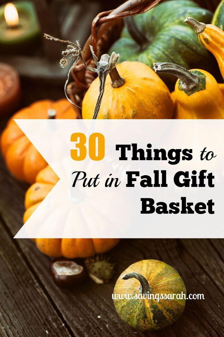 What better way to celebrate the changing seasons than a Fall Gift Basket. Here ...