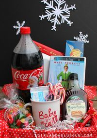elf basket gift *elf movie or elf soundtrack *coca cola *candy corn *spaghetti *...