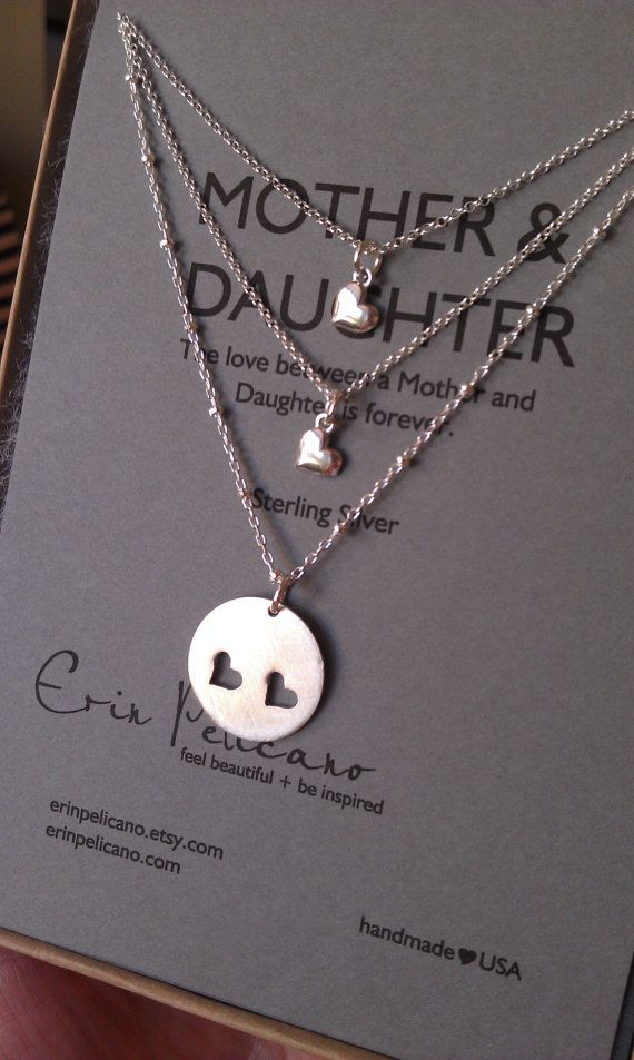Birthday Gift Ideas Mother Two Daughters Necklace Set