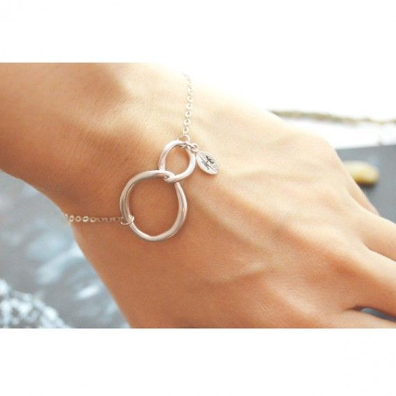 Silver Interlocking Initial Bracelet (also in gold)