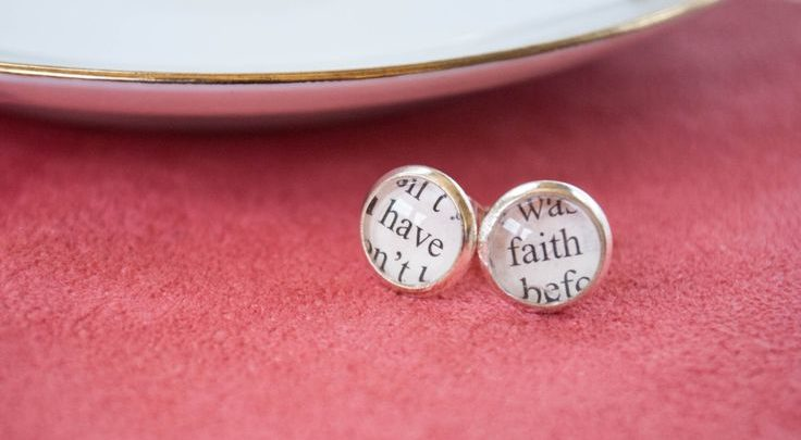 Corporate Gifts Ideas Have Faith Earrings Jewelry Inspirational G