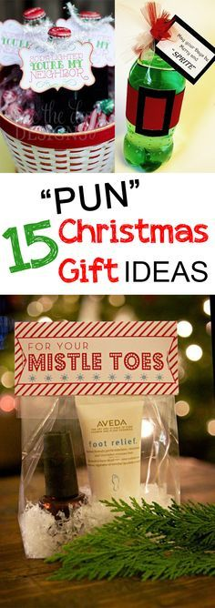 Who doesn't love a good pun? These easy Christmas ideas for your friends and...