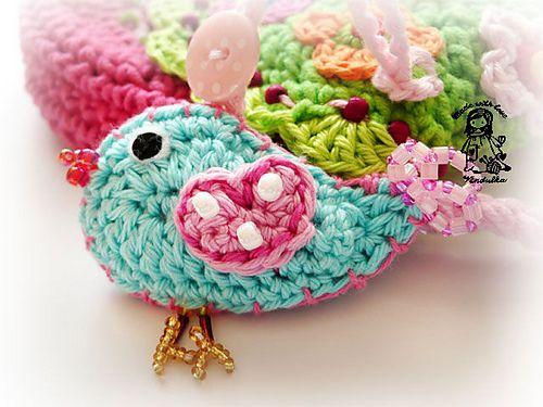 Birdie purse designed by Vendulka on www.kouzlenishack...