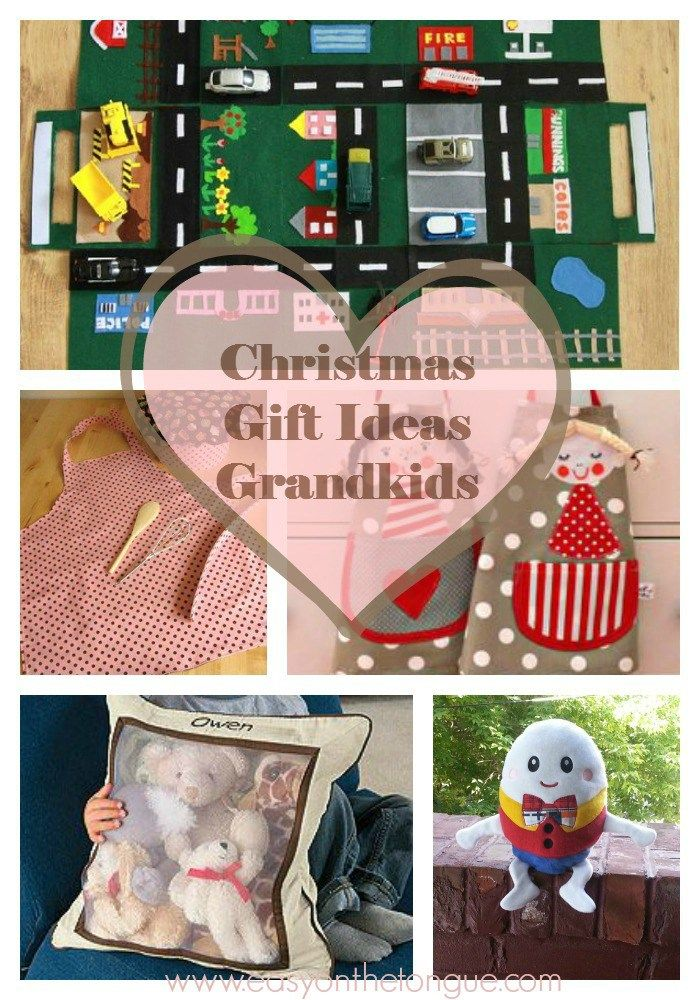 Christmas Gift Ideas Grandkids. Sew a storage pillow, aprons, a car play mat and...